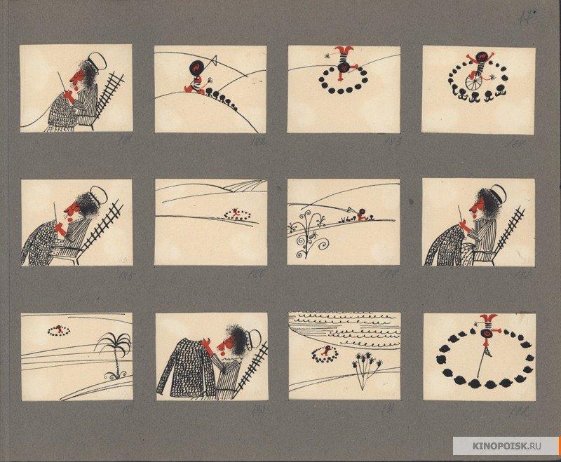 Алимов С.А. Раскадровка к фильму «Каникулы Бонифация». Собрание Музея кино