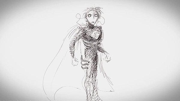 Супермэн, художник Тим Бёртон, Warner Bros.
