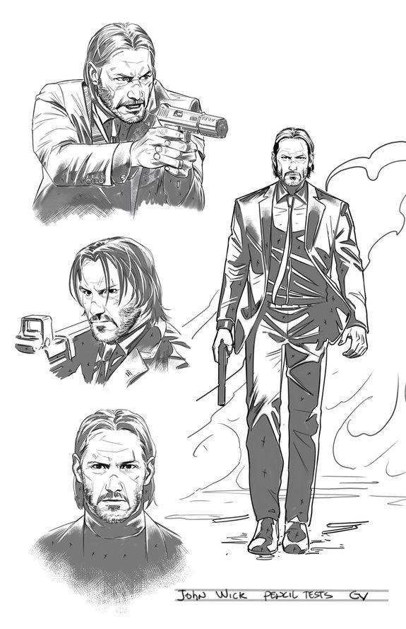 Концепт-арт комикса «Джон Уик» / Фото: Dynamite Entertainment