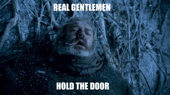 Настоящий джентльмен всегда придержит дверь