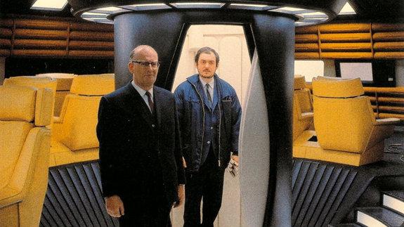 На съемках фильма «2001год: Космическая одиссея»