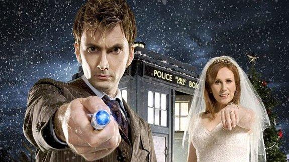 10-й Доктор (Дэвид Теннант) и Донна (Кэтрин Тейт)