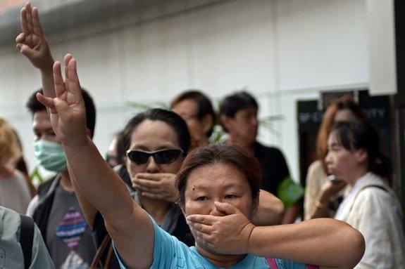 Протестующие в Бангкоке 2014-го