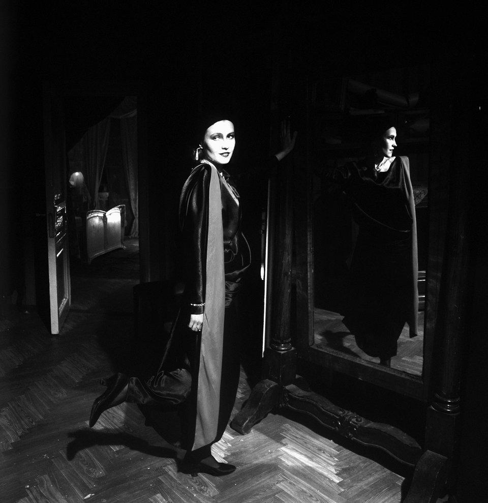 Ингеборга Дапкунайте на съемках фильма «Циники». 1991 год / Фото: Самоэль Кацев