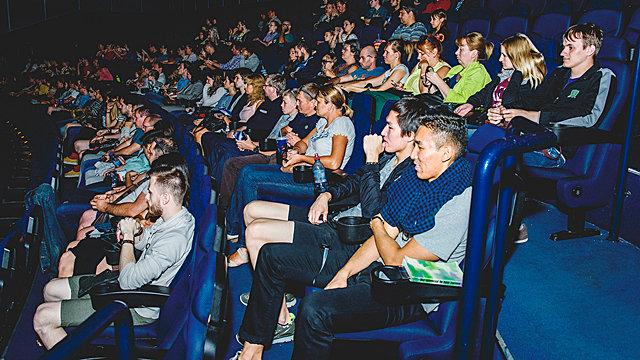 Зрители на показе «Прекрасной планеты»