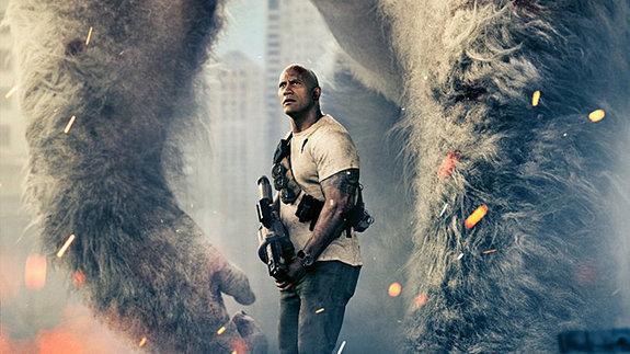 Трейлер фильма «Рэмпейдж»: Дуэйн Джонсон против гигантских чудовищ