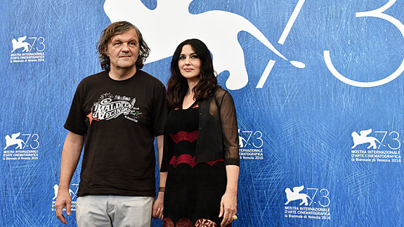 Эмир Кустурица и Моника Беллуччи в Венеции