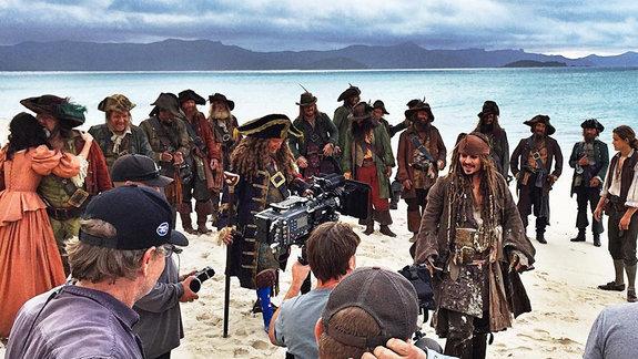 На съемках «Пираты Карибского моря: Мертвецы не рассказывают сказки»