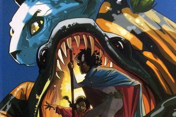 Фрагмент обложки комикса «Сага»