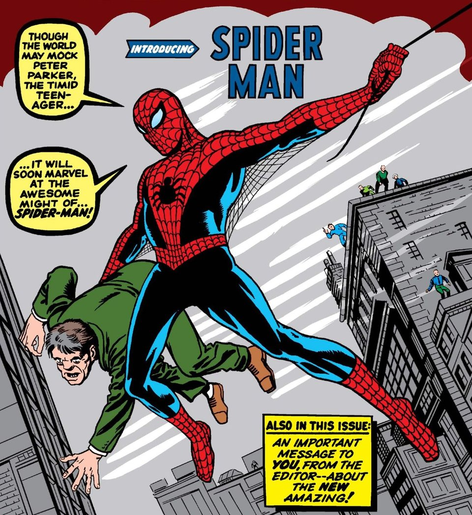 Фрагмент обложки с первым появлением Человека-паука в комиксах / Иллюстрация: Marvel