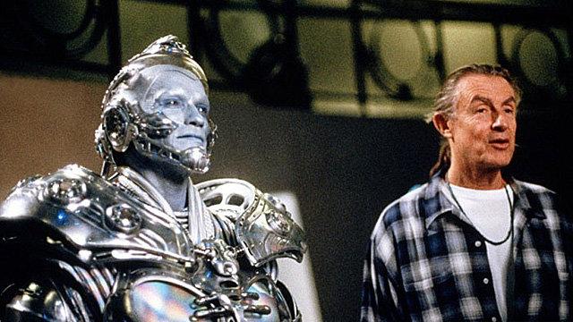 Арнольд Шварценеггер и Джоэл Шумахер на съемках фильма