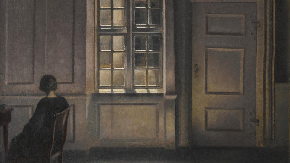 Картина Вильгельма Хаммерсхёя «Interior Strandgade 30» (1901)