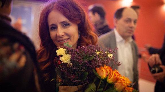 Вера Кричевская на премьере фильма «Слишком свободный человек»