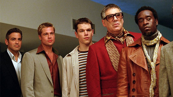 Кадр из фильма «Одиннадцать друзей Оушена», 2001 год