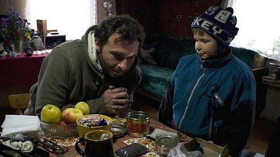 Бакур Бакурадзе насъемках «Охотника»
