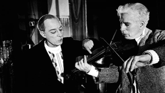Бастер Китон и Чарли Чаплин