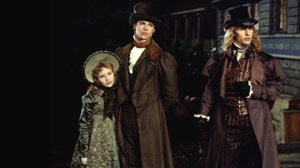 Кирстен Данст, Брэд Питт и Том Круз в экранизации «Интервью с вампиром»