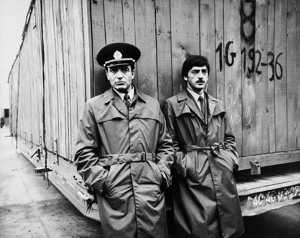 Валентин Гафт и Михаил Боярский на съемках фильма «Таможня». 1982 год / Фото: Самоэль Кацев