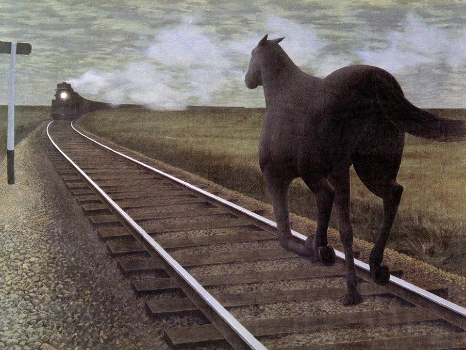 «Лошадь и поезд»