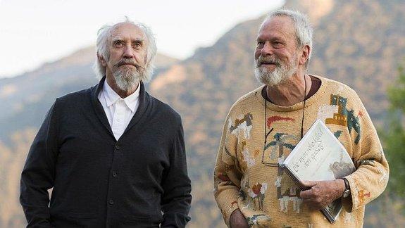 Джонатан Прайс и Терри Гиллиам на съемках фильма