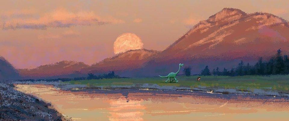 Концепт-арт обновленного «Хорошего динозавра»