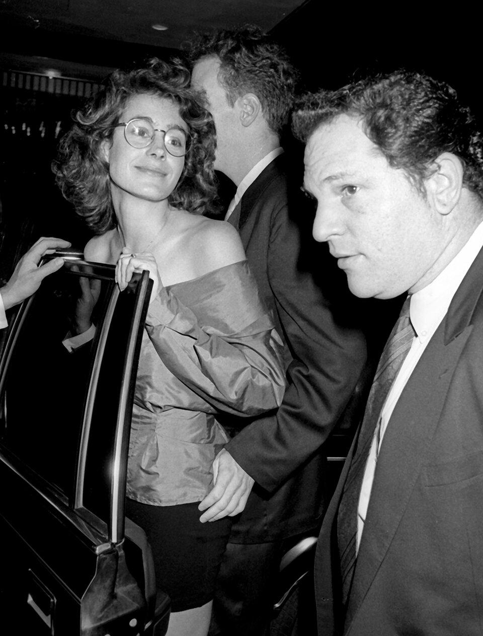 Шон Янг и Харви Вайнштейн на премьере фильма «Секс, ложь и видео» в Нью-Йорке (август 1989)