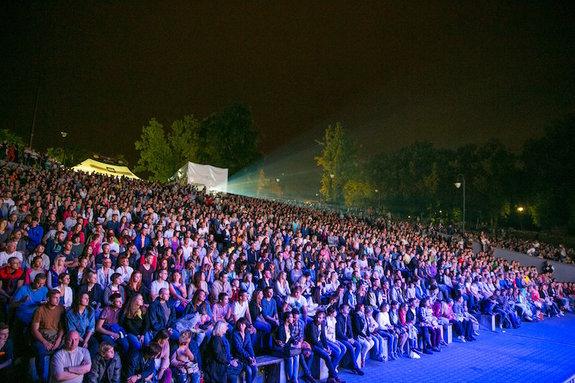 Зрители фестиваля «Короче» в 2015 году
