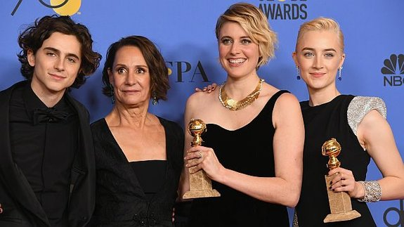 Тимоти Шаламе, Лори Меткаф, Грета Гервиг и Сирша Ронан / Фото: Getty Images