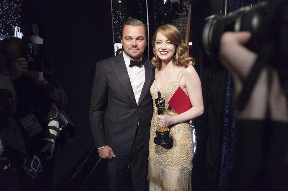 Эмма Стоун и Леонардо ДиКаприо / Фото: Getty Images