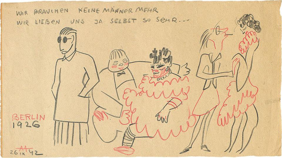 Рисунок Сергея Эйзенштейна Berlin — «Берлин» (1926). Из цикла «Воспоминания о путешествиях» (1942) / РГАЛИ