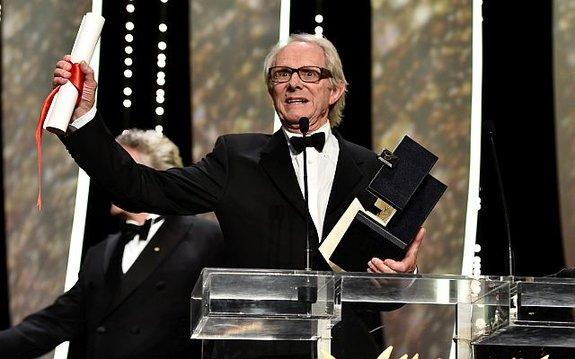 Кен Лоуч получает «Золотую пальмовую ветвь»