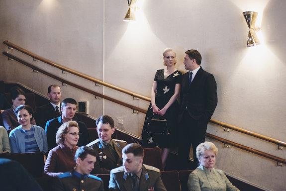 Съемка сцены премьеры фильма «Нормандия — Неман» / Фото: Элен Нелидова
