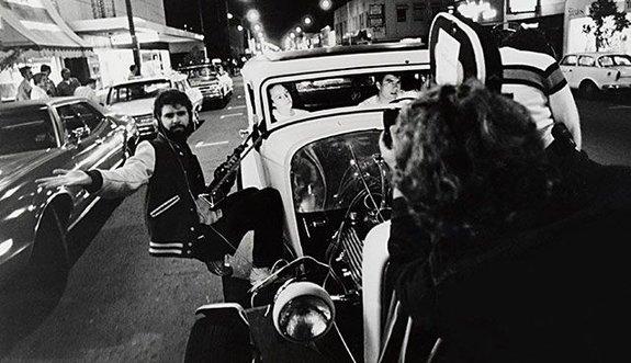 Джордж Лукас на съемках фильма «Американские граффити»
