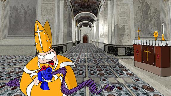 Кадр из сериала «Папский городок»