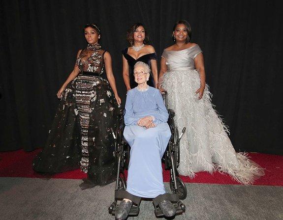 Актрисы из«Скрытых фигур» иКэтрин Джонсон/ Фото: Getty Images