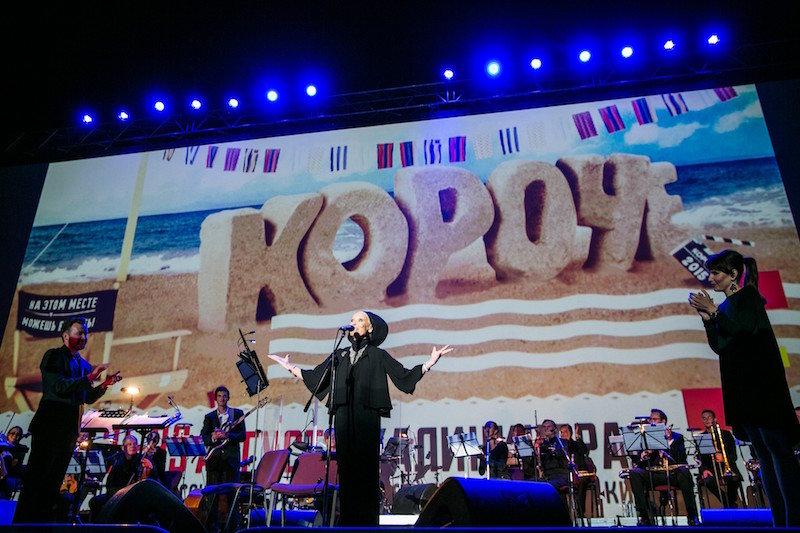 Светлана Светличная на фестивале «Короче» в 2015 году