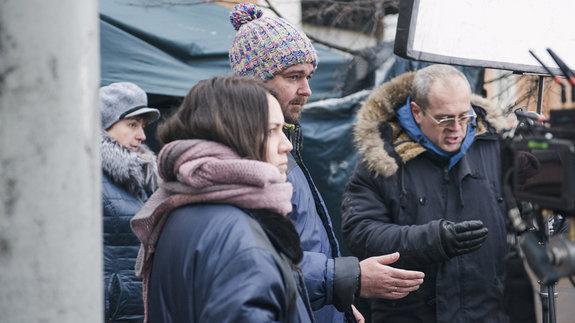 Борис Хлебников на съемках фильма «Аритмия» / Фото: Элен Нелидова