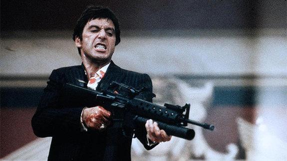 Кадр из фильма «Лицо со шрамом», 1983 год