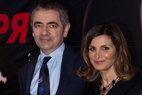 Роуэн Эткинсон с женой