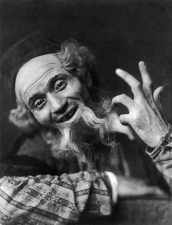 Шейлок в «Венецианском купце» Шекспира. «Шаушпильхаус», Мюнхен, 1920