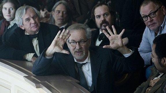 Стивен Спилберг насъемках фильма «Линкольн»