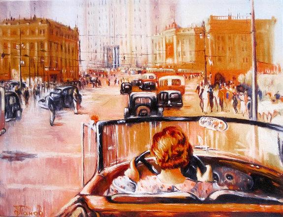 Картина Юрия Пименова «Новая Москва»