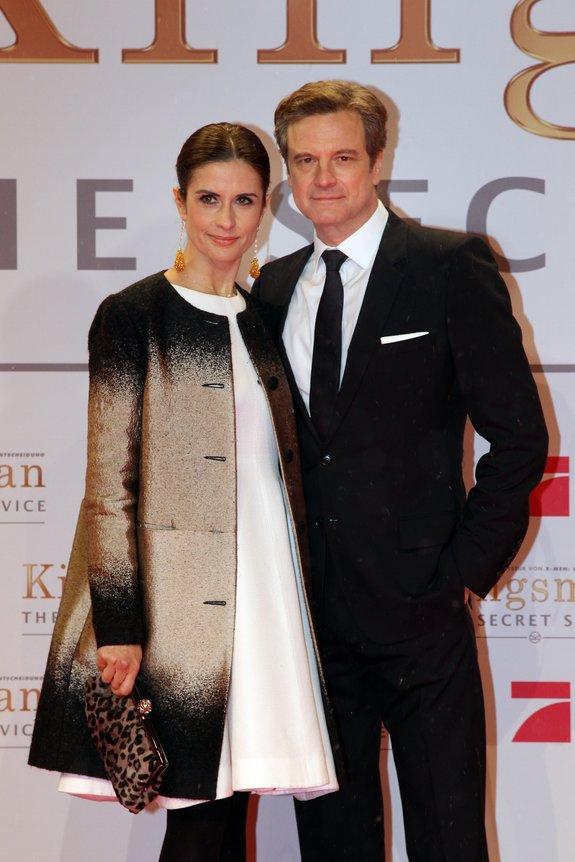 Колин Фёрт с супругой