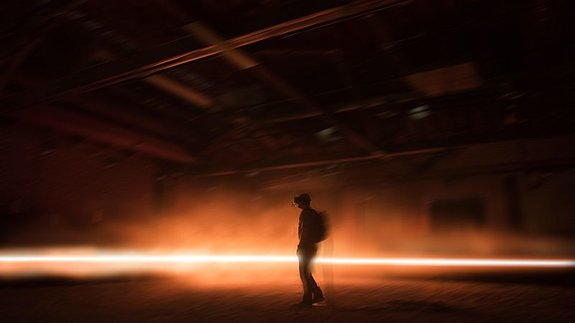 Примерно так выглядит человек внутри инсталляции