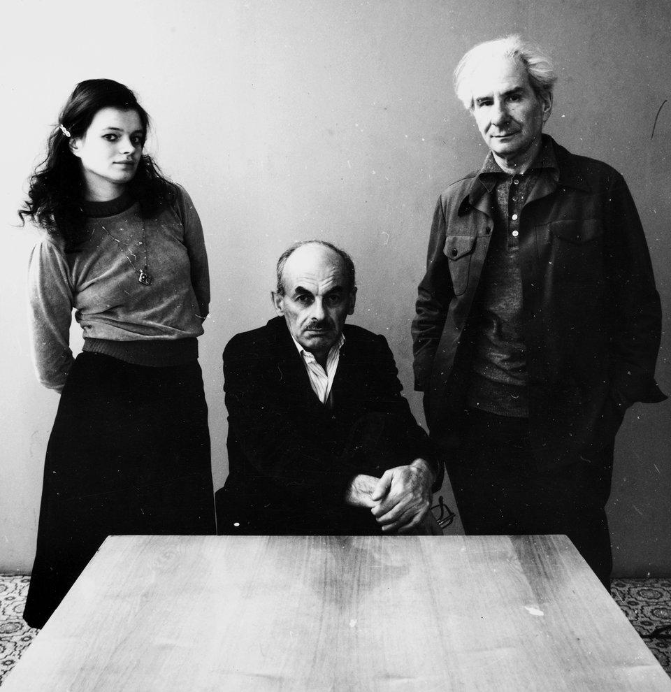 Наталья Горленко, Булат Окуджава, Александр Володин. 1985 год / Фото: Самоэль Кацев