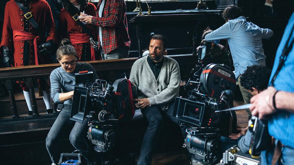 Йоргос Лантимос на съемках фильма «Фаворитка»