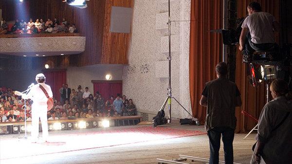 Кадр со съемочной площадки фильма «Высоцкий. Спасибо, что живой»