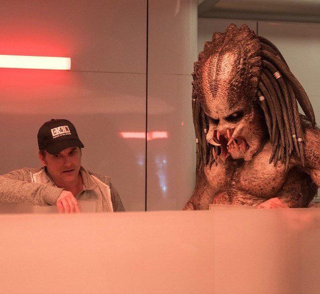 Шейн Блэк на съемках фильма «Хищник»