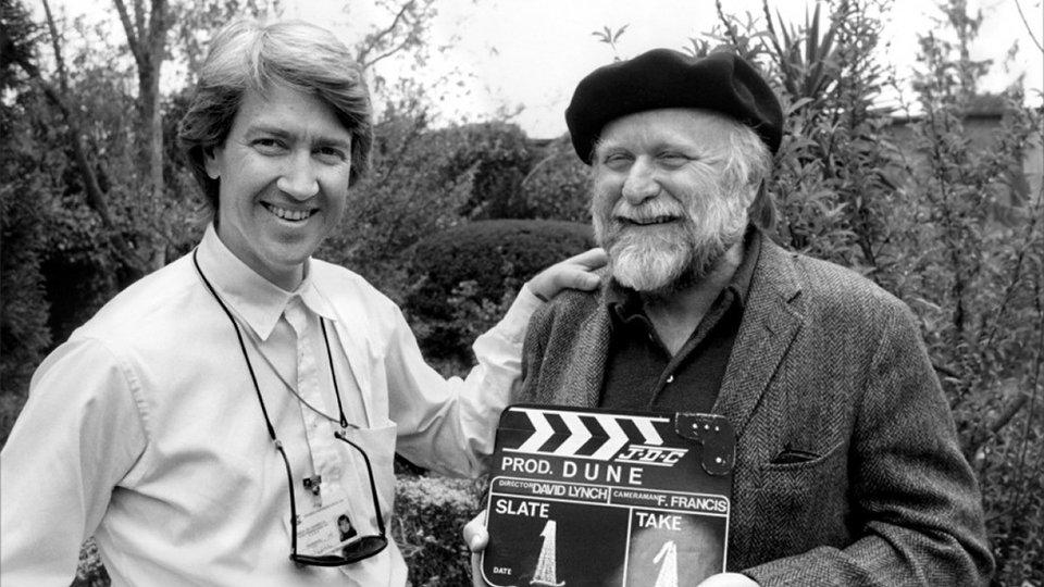 Фрэнк Герберт и Дэвид Линч на съемках фильма «Дюна»
