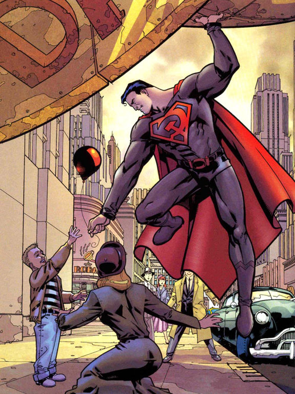 Комикс Superman: Red Son №1 / художник: Дейв Джонсон